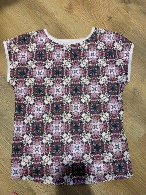 Ted Baker Bluse Shirt Größe 2 38 M rosa Blumen Muster Löchlein
