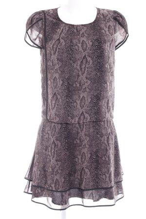 Ted baker Blusenkleid schwarz-graulila abstraktes Muster Elegant