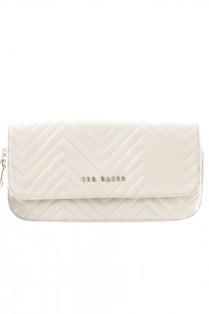 Ted baker Clutch nude Zackenmuster Glanz-Optik