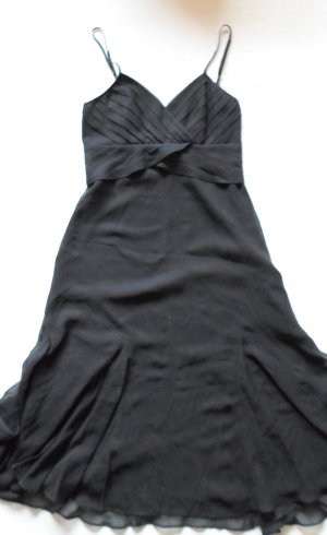 Ted Baker Cocktailkleid aus schwarzer Seide Gr. 34