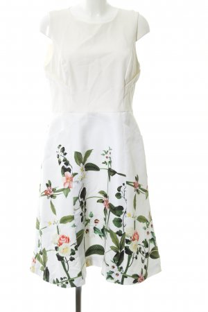 Ted baker Cocktailkleid weiß-grün Blumenmuster Casual-Look