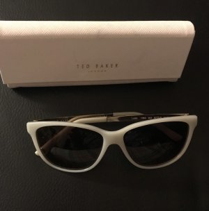 Ted baker Ovale zonnebril goud-wit
