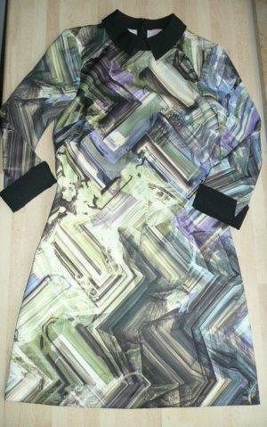 Ted Baker Eyecatcher Kleid Minikleid m Bubikragen + Grafik Print mehrfarbig