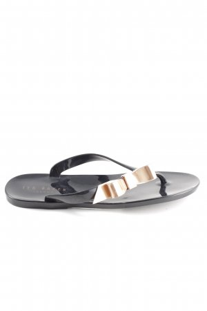 Ted baker Flip-Flop Sandals black-gold-colored casual look