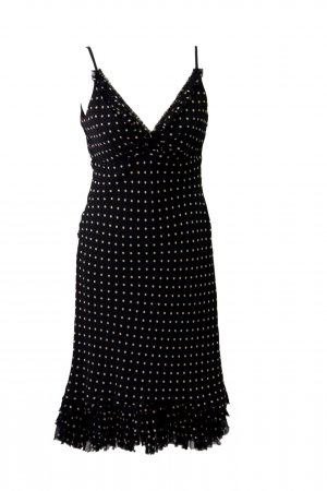 Ted Baker Gepunktetes Kleid aus Seide
