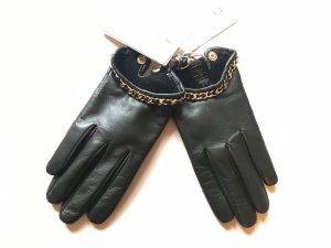 Ted Baker Handschuhe Leder gefüttert Gr. S/M Khaki