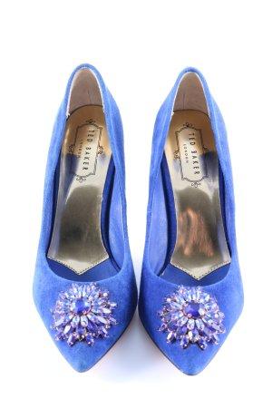 Ted baker High Heels blau-goldfarben Elegant