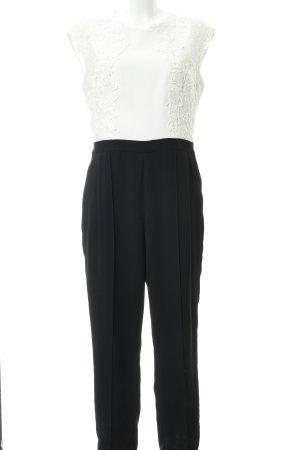 Ted baker Jumpsuit schwarz-weiß florales Muster Elegant