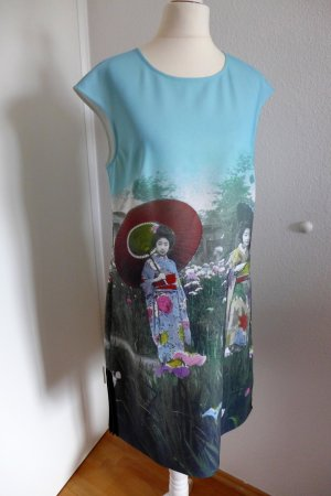 Ted Baker Kleid Asia Geisha schwarz blau Gr. 2 (36/38) neu