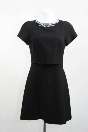 Ted Baker Kleid Damen Cocktailkleid Skaterkleid Gr. 34 (XS) Schwarz