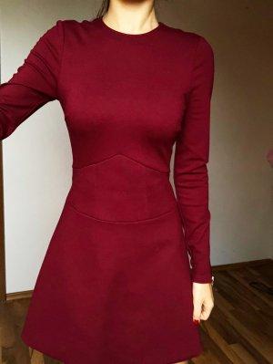 Ted Baker Kleid Langarm Bordeaux Rot Gr. 0/XS