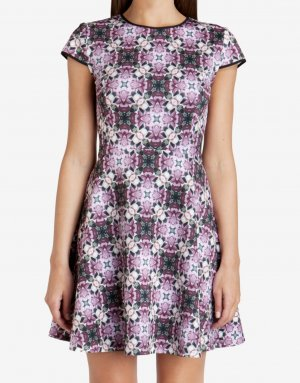 Ted Baker Kleid mit croched Rose Geo-Print