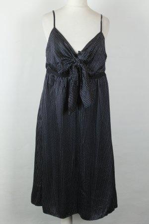 Ted Baker Kleid Seidenkleid Gr. 40 blau weiß Punkte