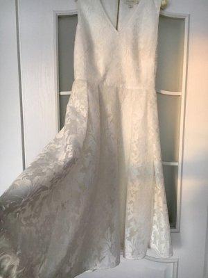 Ted Baker Kleid - weiß / Creme - in Gr 2 - NP 420€ - einmal getragen