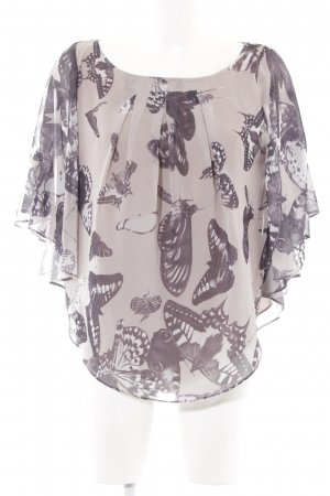 Ted baker Kurzarm-Bluse beige-taupe Animalmuster Casual-Look