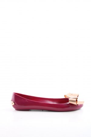 Ted baker Lackballerinas rot-goldfarben Casual-Look