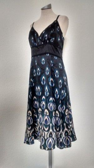 Ted Baker London Kleid Seide blau schwarz  Gr. 5 XL 44 Träger