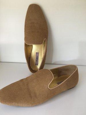 Ted Baker London Schuhe / Slipper in Felloptik 1a Zustand
