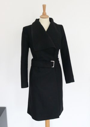 Ted baker Trench Coat black-gold-colored wool