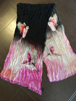 Ted Baker MEISEN VÖGEL Schal pink schwarz - NP 125€