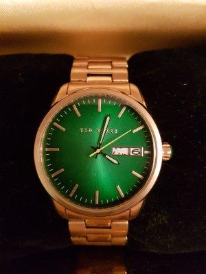 Ted Baker # neue XL Uhr# grasgrünes Ziffernblatt # goldene Hardware