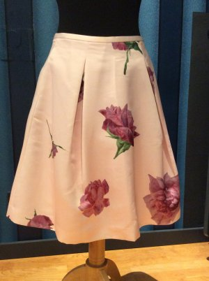 Ted Baker Oil Painting Satin Tulip Skirt