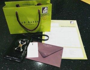 Ted Baker phone sleeve wallet case Iphone Samsung Leder Tasche Geldbörse schwarz