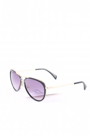 Ted baker Pilot Brille schwarz-goldfarben Street-Fashion-Look
