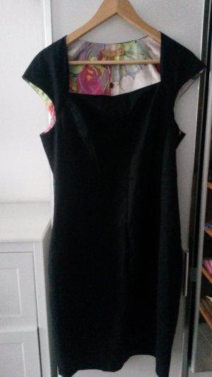 Ted Baker Premium Kleid schwarz mit Blumen Innenfutter (neu)