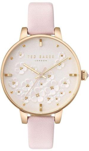 Ted baker Orologio con cinturino di pelle color oro rosa