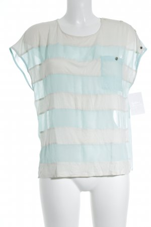 Ted baker Gestreept shirt wolwit-babyblauw gestreept patroon casual uitstraling