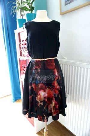 Ted Baker seidiges Kleid mit Blumenrock