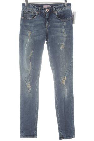 Ted baker Skinny Jeans stahlblau-ocker Casual-Look