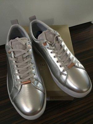 Ted Baker Sneaker Schuhe Silber Roségold NEU