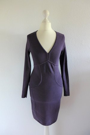 Ted Baker Stretch Bodycon Kleid Langarm lila pflaume Gr. 1 34 36 XS S