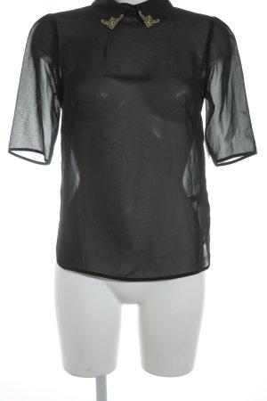 Ted baker Transparenz-Bluse schwarz-goldfarben Elegant