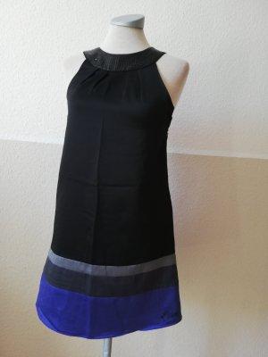 Ted Baker Tunikakleid schwarz blau Gr. 32 XS Pailletten Satin Partykleid
