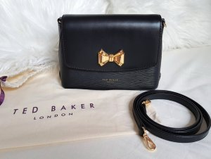 Ted Baker Umhängetasche mit Schleifendetail Clutch Tessi Schwarz Gold ♥