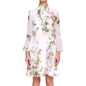 Ted Baker Volant Kleid mit Blumenmuster Neu
