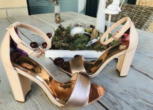 Ted baker Chaussure à talons carrés or rose