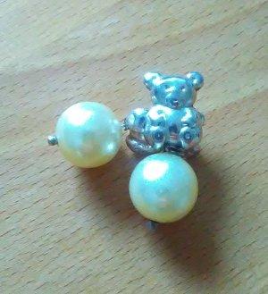 Teddy Bären Ohrringe mit Perlen 925er Silber
