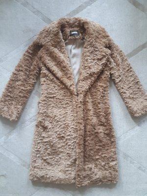 Teddy fake fur Mantel caramel