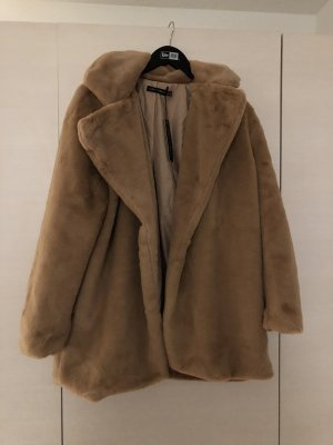 I saw it first Fake Fur Jacket light brown