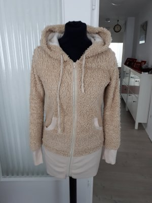 Fleece Jackets sand brown-camel polyester