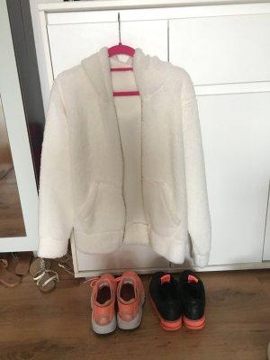 Teddy Jacke Hoodie Cardigan Fake Fur Flausch Oversize Blogger Trend Kuschelig