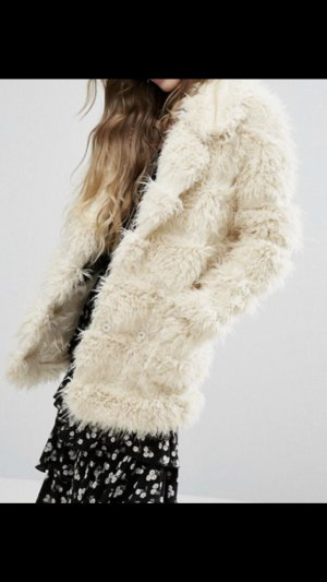 Glamorous Fake Fur Coat natural white-cream