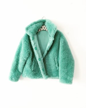 teddy jacke • winterjacke • türkis mint • oversized • bohostyle