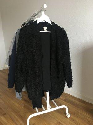 Teddy-/ Kuschel-Jacke in schwarz