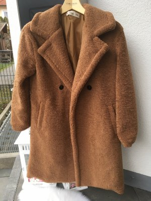 Wollen jas bruin-camel