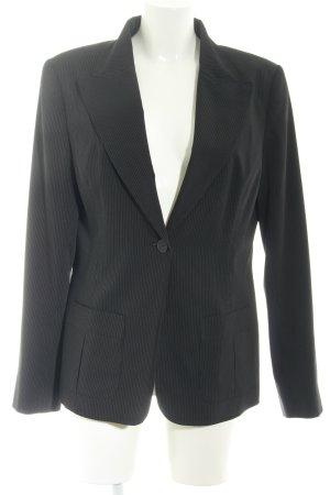 Teddy's Blazer unisexe noir-blanc rayure fine style d'affaires